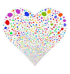 balloon fireworks heart vector image