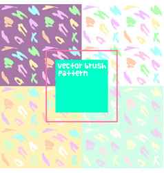 Doodle brush pattern background set vector