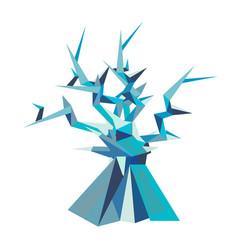 Fantastic poligonal tree vector