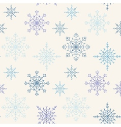 Decoration snowflakes seamless background vector