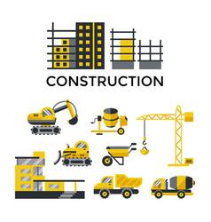 digital construction building tracks vector image