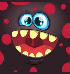Cartoon funny monster black face vector