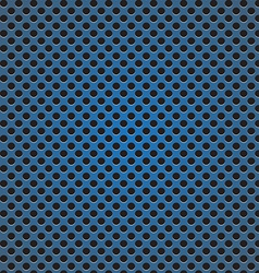 Blue circle perforated carbon speaker grill vector