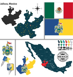 Map of jalisco vector