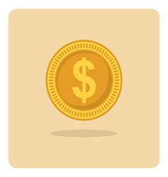 Flat icon dollar coin vector