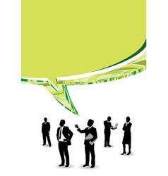 speech business people vector image