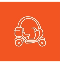Rickshaw line icon vector