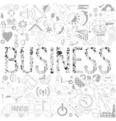 Decorative elements of the word business business vector