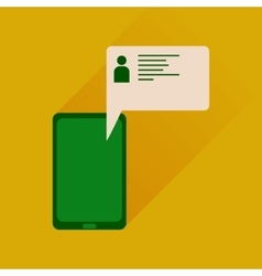 Flat icon with long shadow mobile phone message vector