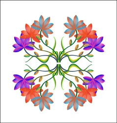 Asia Floral Background vector image