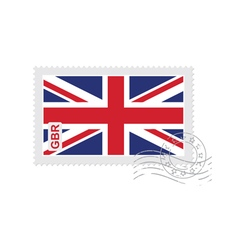 Britain flag old postage stamp vector