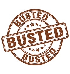 Busted brown grunge round vintage rubber stamp vector