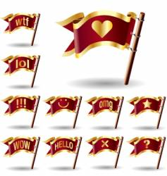 chat icons on flags vector image