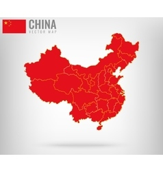 China map with golden borders vector