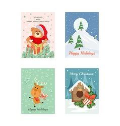 Christmas cards 9 vector