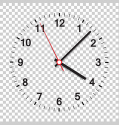 Clock icon office clock on isolated background vector