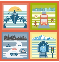 Colorful landscapes vector