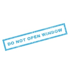Do not open window rubber stamp vector