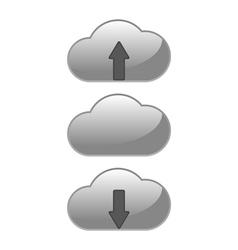 Download upload cloud vector