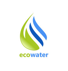 eco water abstract logo vector image