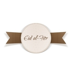 Eid al-fitr holiday paper tag vector