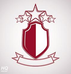 Eps8 aristocratic symbol festive graphic shield vector