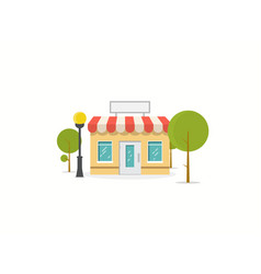 flat store vector image vector image