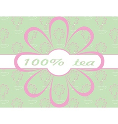 Flower and ribbon background vector