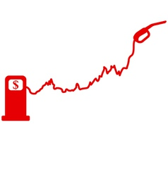 Fuel price graph vector image vector image
