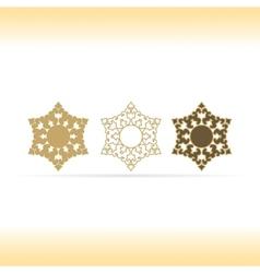 Geometric shapes or mandala decorative vector image vector image
