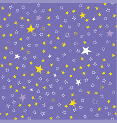 Lilac seamless pattern with stars vector