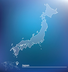 Map of Japan vector image vector image
