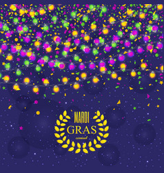 Mardi gras carnival background with light lamps vector