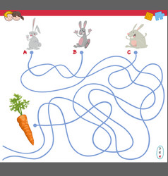 maze game with scientist characters vector image