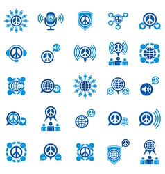 Peace and earth unusual icons set creative symbols vector image vector image