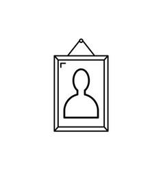 portrait icon vector image