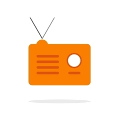 Radio icon isolated vector image