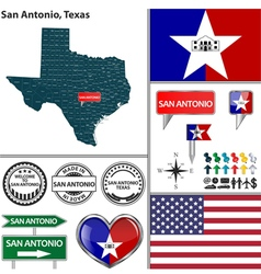San antonio texas set vector