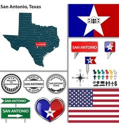 San Antonio Texas set vector image