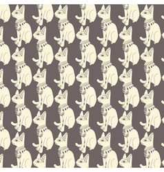 Seamless pattern of egyptian cats vector