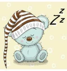 Sleeping cute Bear vector image vector image