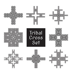 tribal cross set vector image