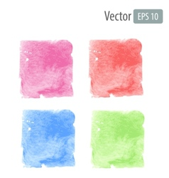 watercolor stains with space for text vector image