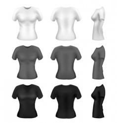 women's t-shirts vector vector image vector image