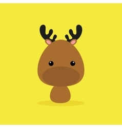 Cute cartoon wild deer vector