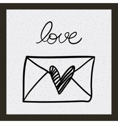 Love romantic card isolated vector