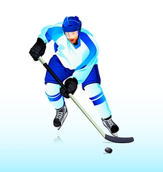 Ice-hockey player vector