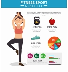 Infographic fitness sport athletic vector