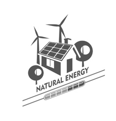 Eco energy vector image