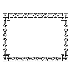Roman style black ornamental decorative frame vector image